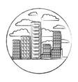 building set city landscape construction in vector image vector image