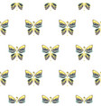 butterfly yellow and blue baby seamless vector image