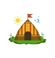Camping Wigwam In Forest vector image vector image