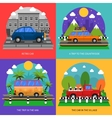 Cars Concept Icons Set vector image vector image