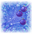 christmas background with balls and snowflakes vector image vector image