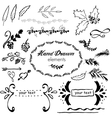 collection hand-sketched element vector image vector image