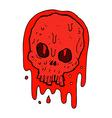 comic cartoon bloody skull vector image vector image