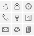 Communication and bussines icons vector image vector image