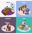 craftsman isometric concept vector image vector image