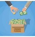 crowdfunding concept in flat style vector image