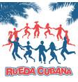 cuban rueda or group of people dancing salsa in a vector image
