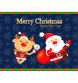 Decorated christmas card of santa claus and deer vector | Price: 3 Credits (USD $3)