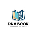 dna book logo designs simple modern for education vector image