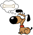 dog dreaming about a bone vector image vector image