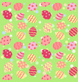 easter egg seamless pattern pink green vector image vector image