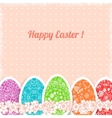 Easter vintage background with colorful ornament vector image vector image