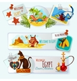 Egypt Touristic Banner Set vector image
