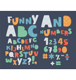 english alphabet uppercase symbols and numbers vector image vector image