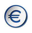 euro currency symbol on sticker label isolated on vector image vector image