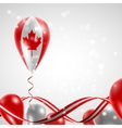 Flag of Canada on balloon vector image