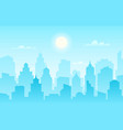 flat cityscape modern city skyline daytime vector image vector image