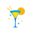 flat icon of tasty brazilian cocktail vector image