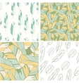 four seamless patterns with feather vector image vector image