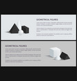 geometrical figures set banner vector image vector image