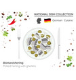 german cuisine european national dish collection vector image vector image