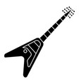 guitar electric - electricguitar icon vector image vector image
