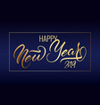 happy new year postcard with nice lettering vector image vector image