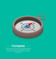 isometric compass vector image