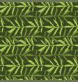 leaves seamless pattern green nature background vector image vector image
