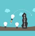 light bulbs brainstorming wall vector image vector image