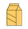 milk box isolated vector image vector image