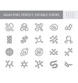molecule line icons included vector image