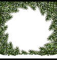 new year christmas postcard green branches of vector image vector image