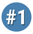 number 1 one symbol sign in circle 1st first vector image