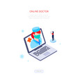 online doctor - modern colorful isometric web vector image