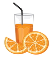 Orange juice and slice vector image vector image