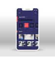 purple and red products shopping ui ux gui screen vector image vector image