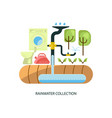 rainwater collection system vector image