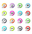 rap music icons set vector image vector image
