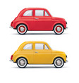 red an yellow cars isolated on white 3d vector image