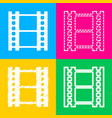 reel of film sign four styles of icon on four vector image