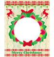 Reindeer Christmas card design vector image vector image