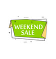retail speech bubble with weekend sale phrase vector image vector image
