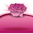 rose on the pink background vector image vector image