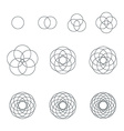 round contour various sacred geometry set vector image
