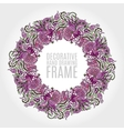 Round frame of flowers and some floral elements vector image