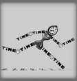 running away time vector image
