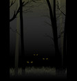 scary eyes staring and lurking from dark woods vector image vector image