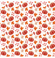 seamless pattern with acorns pumpkin and autumn vector image vector image