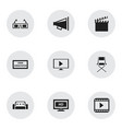 set of 9 editable filming icons includes symbols vector image vector image
